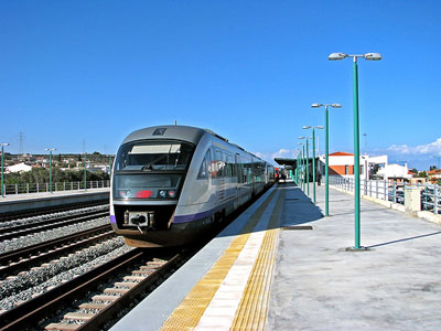 Trains in Greece