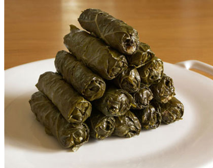plomari ouzo - vine leaves