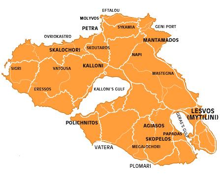 Plomari ouzo lesvos map