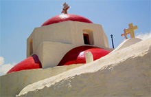 greece - greek islands mykonos church
