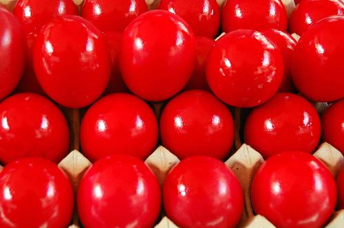 Red Easter Eggs Greek Easter