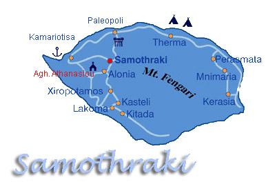 samothraki greece - samothraki island map